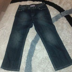 Baccini ladies jeans embellishments galore